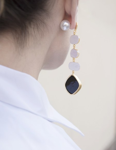 Ellipsee x Masha Reva Eolian Gold White Earring