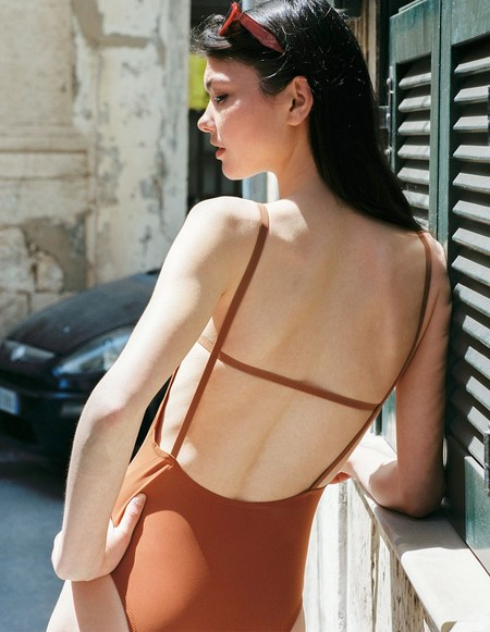 Aere Store Three Swimsuit - Terracotta
