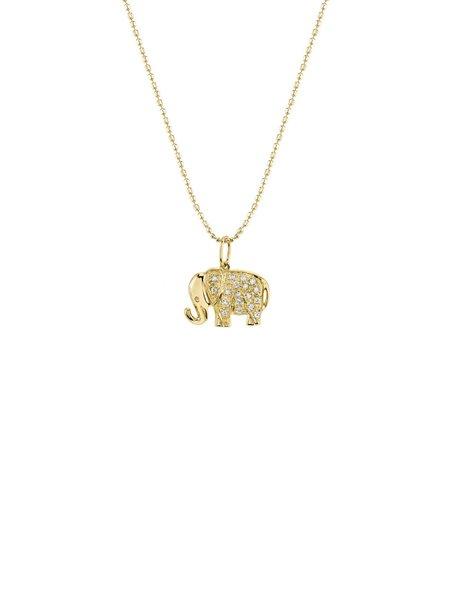 Sydney Evan 14K Diamond Elephant Necklace