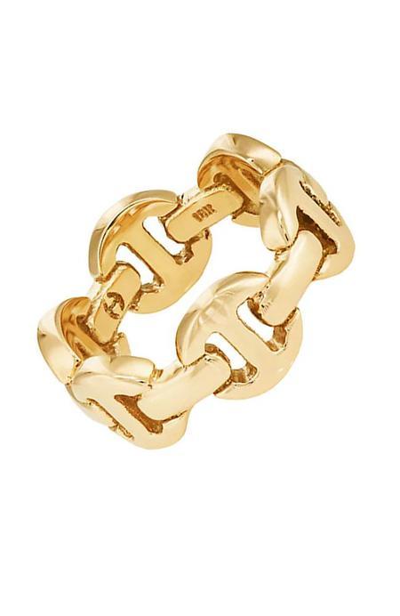 Hoorsenbuhs Brute Classic Tri-Link Ring - 18K Gold