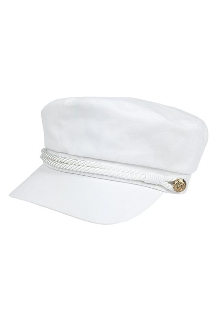 Hat Attack Emmy Newsboy Cap - WHITE