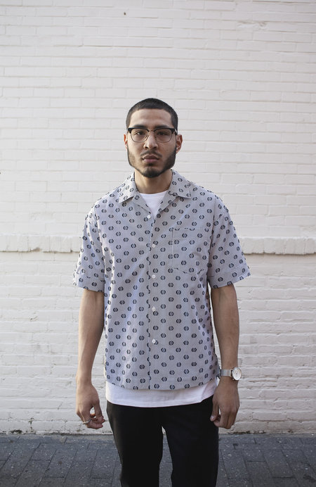 P.L.C. Stripe Dot Shirt - White