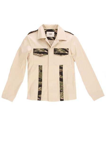 HERMAN MARKET Military Jacket - TIGER CAMO/BLACK