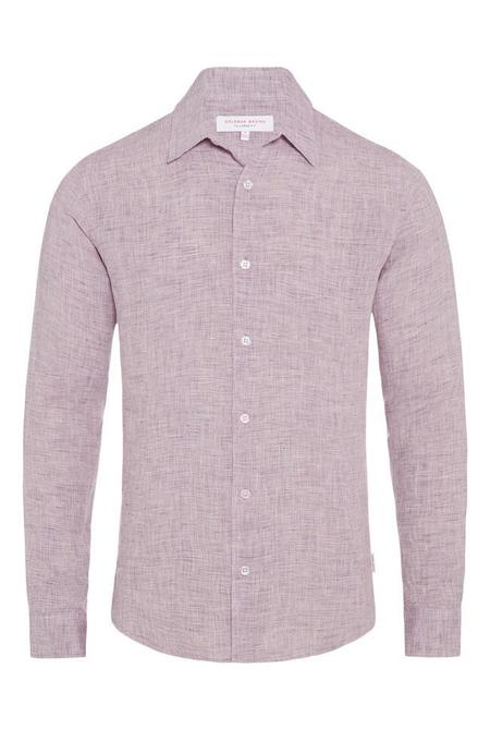 Orlebar Brown Morton Linen Tailored Shirt - ORCHID