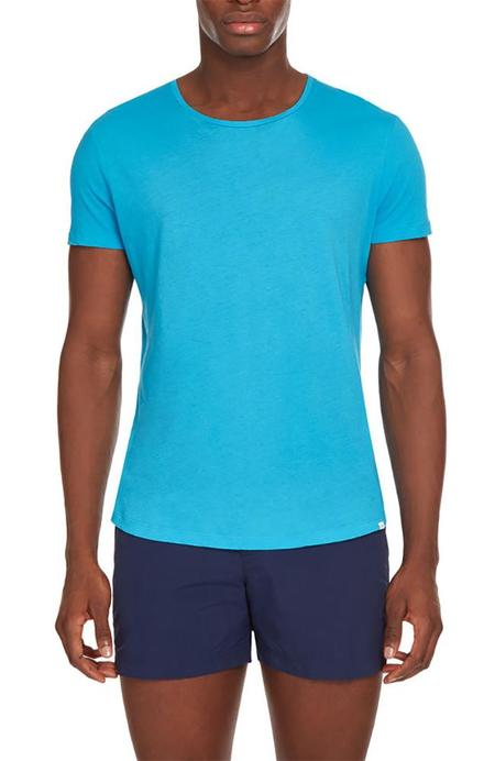 Orlebar Brown Ob-T Crew Neck T-Shirt - AZURE