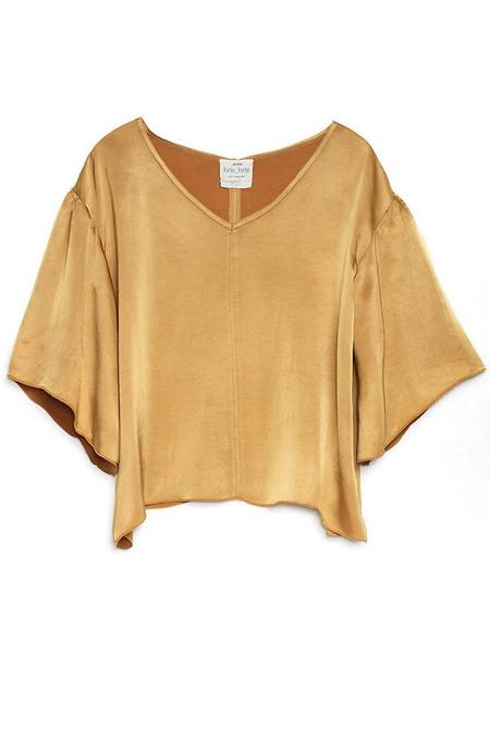 Giada Forte Silk Oversized Top - Oro