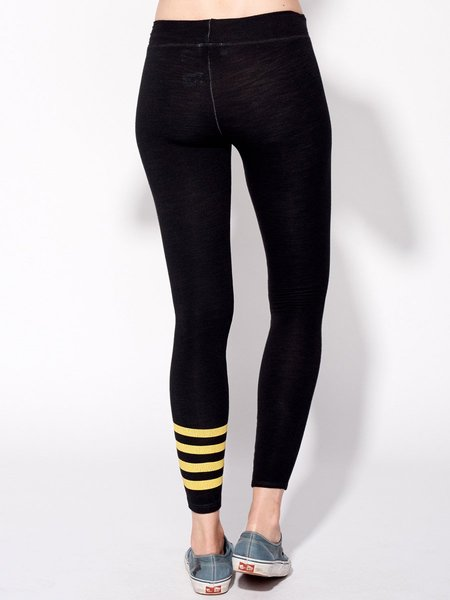 Sundry Stripe Yoga Legging - Old Black