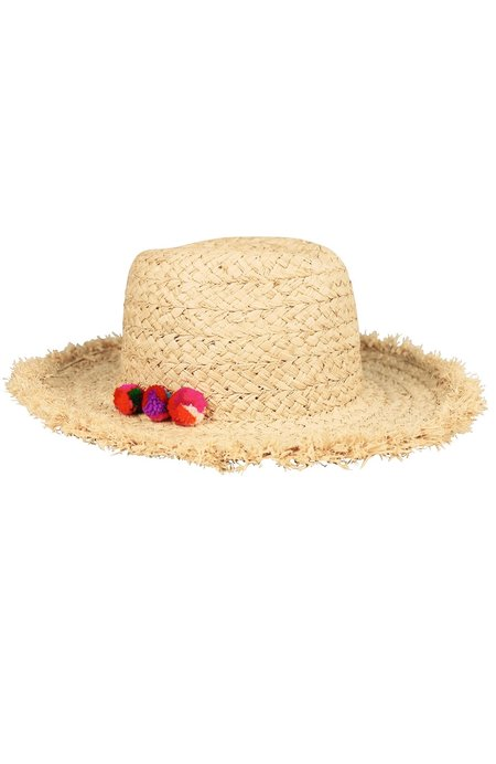 Hat Attack Thick Braid Fringed Pom Pom Rancher - MULTI