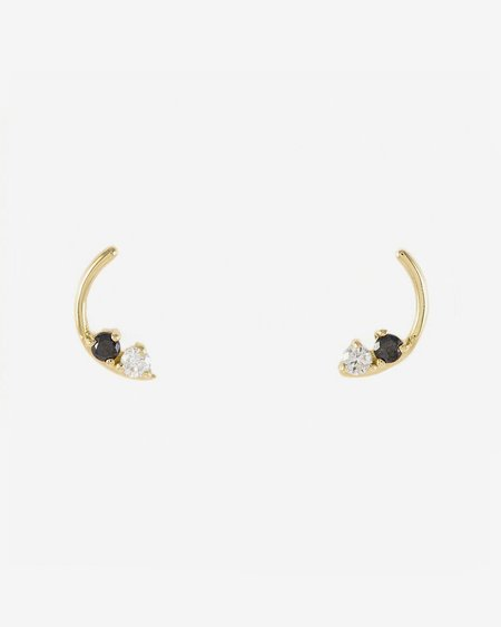 Honey & Bloom Stardusted Arc Studs
