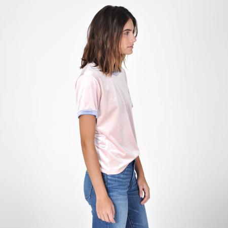 Liana Plush Pink Ringer Tee - Pink