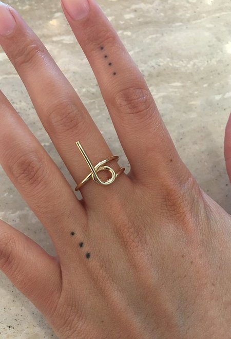 Wasson Fine 14k Gold Tube Ring