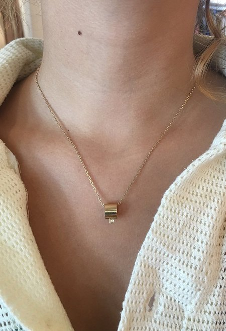 Wasson Fine 14k Tube Pendant Necklace