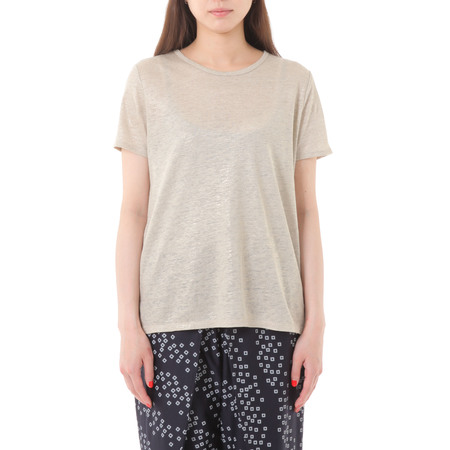 PLAINLESS GOLDEN LINEN T-SHIRT - Linen