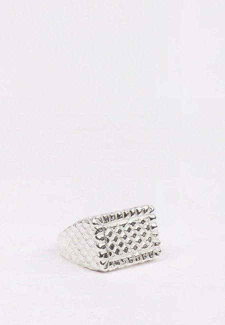 27 Mollys XX Brick Ring - silver