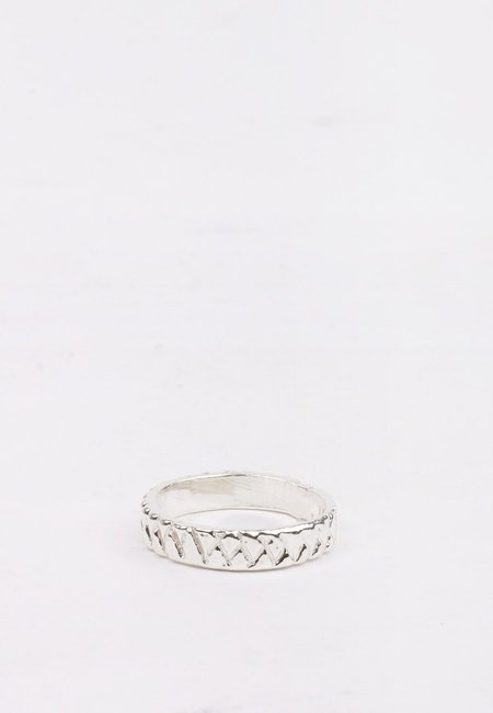 Unisex 27mollys XX Thin Band Ring - Silver