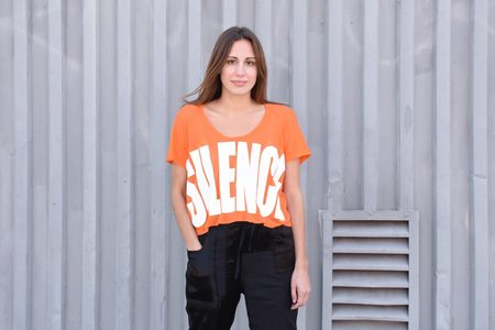 "Haider Ackermann ""Silence"" Cropped Top - Arsenic Orange"