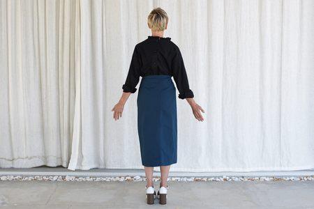 Atlantique Ascoli Cottage Skirt - Dark Blue