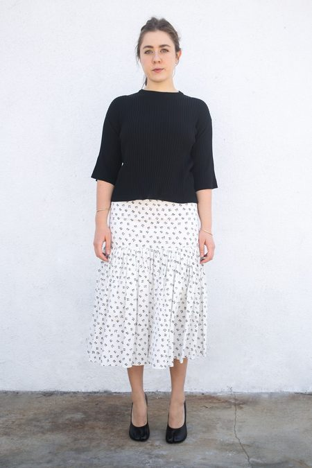 Sara Lanzi Gathered Skirt - Printed Black