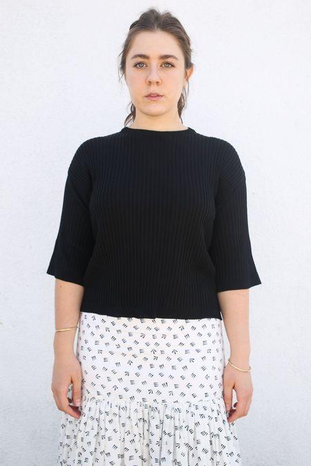 Sara Lanzi Knitted T-Shirt - Black