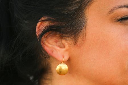 Darlene De Sedle Medium Sundisc Earrings - 22K Gold