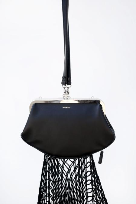 Vetements Purse Bag - Black
