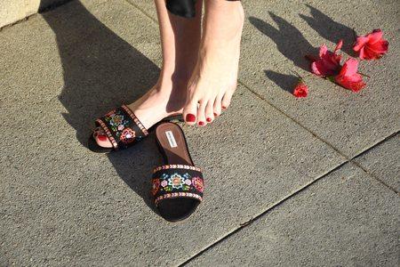 Tabitha Simmons Sprinkles Fest Sandals - Black/Multi