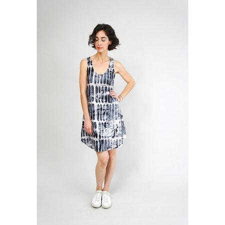 Osei Duro Runa Tank Dress - Black Chalk