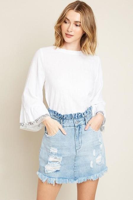 A Beauty by BNB Mom's Denim Skirt - Light Denim