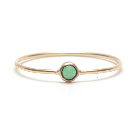 Favor Emerald Spike Ring