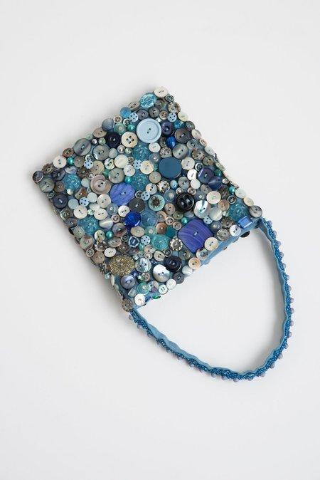 Intensity Small Beaded Bag - Blue