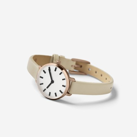 Breda Beverly Watch - Rose Gold/Taupe