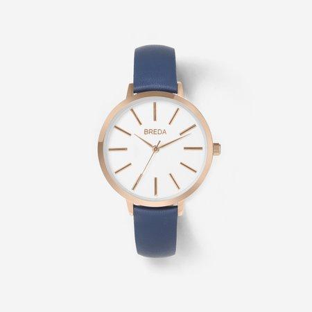 Breda Joule Watch - Rose Gold / Navy