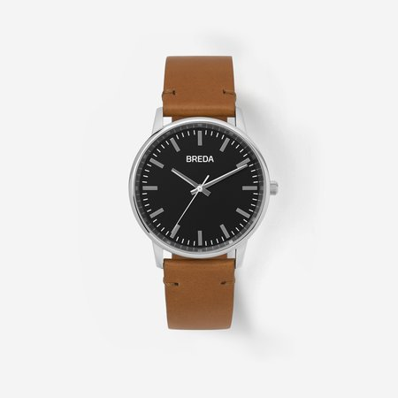 Breda Zapf Watch - Silver / Brown