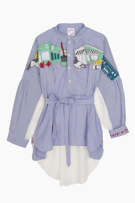 KILOMETRE Inspired Orchard Shirt - blue
