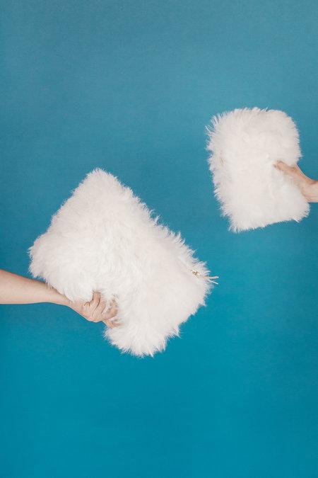 Primecut Fluffy Sheepskin Zipper Wallet
