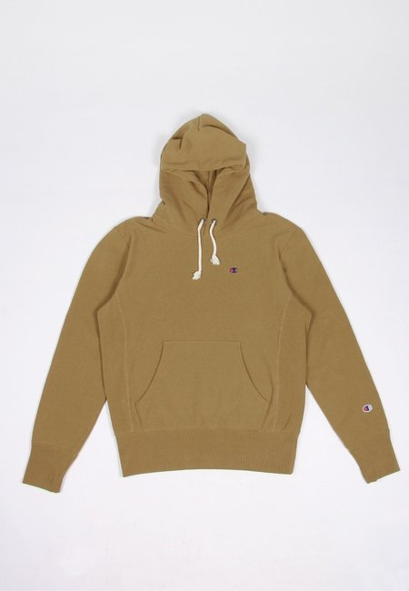 Europe Reverse Weave Hoodie - golden brown