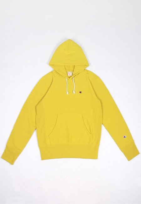 Europe Reverse Weave Hoodie - golden lime