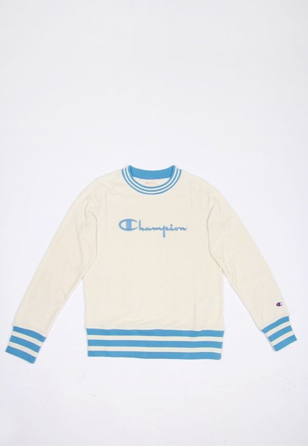Europe W Terry Sponge Crewneck Sweater - cream