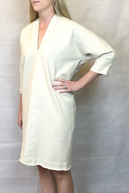 Hackwith Design House Raw Finish Cocoon Dress