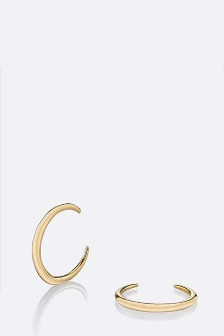 Gabriela Artigas Mini Rising Tusk Earrings - 14K Yellow