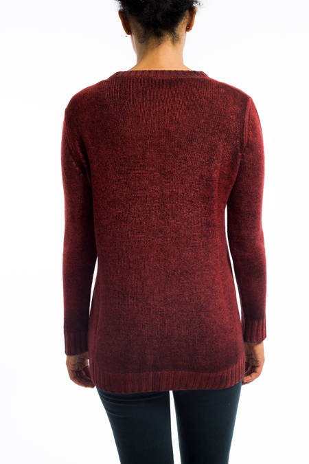 Avant Toi cashmere boatneck split vent sweater - RED