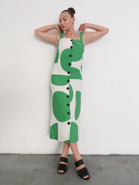 MARA HOFFMAN MAUREEN DRESS - TONDO GREEN