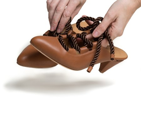 The Palatines Shoes Boria Satin Cord Lace Up - Henna