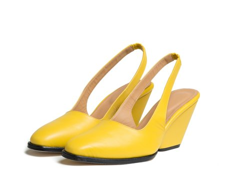 The Palatines Shoes imago slingback with sculpted heel - solar yellow