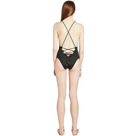 Ephemera Laced Back One Piece - Noir