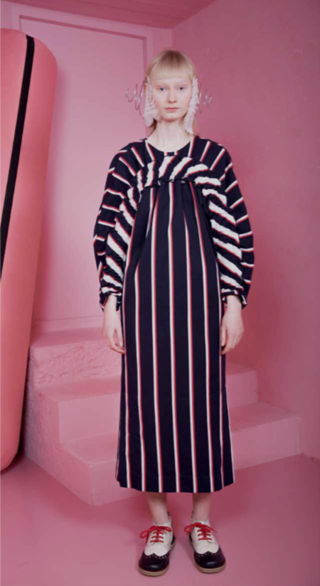 Henrik Vibskov Date Dress - Blue Hairy Stripe