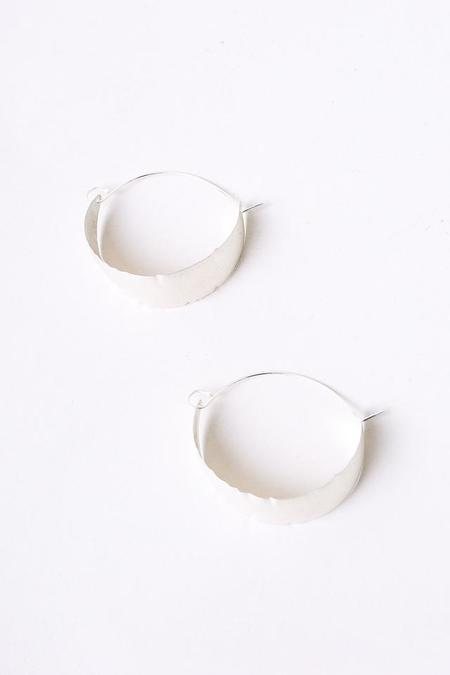 S Tector Metals Oval Sheet Hoops - Sterling Silver