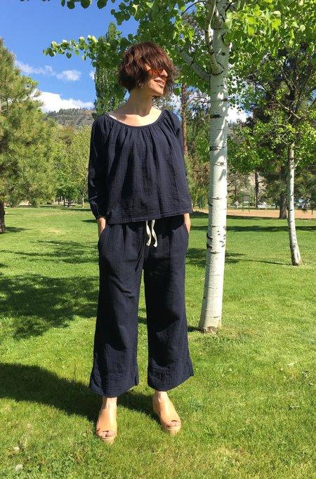 Atelier Delphine Alameda Cropped Pant - Darkest Navy