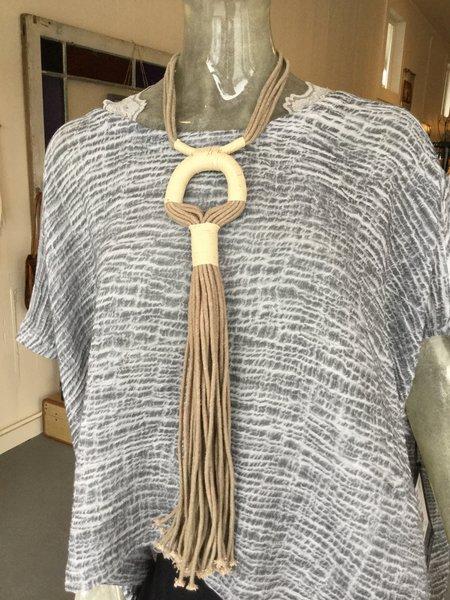 Zelma Rose Textile Necklace