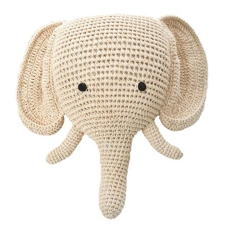 Kids Anne-Claire Petit Crochet Elephant Head - White